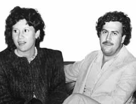 Victoria Eugenia con Pablo Escobar Gaviria, muerto en diciembre de