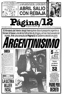 P gina 12 web buenos aires argentina 20 aniversario for Pasaporte ministerio interior
