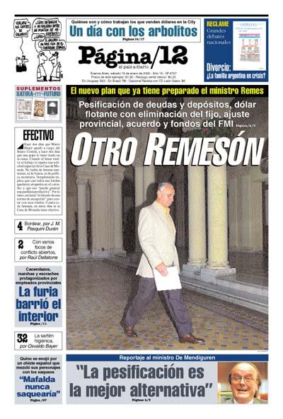Tapa de la fecha 19-01-2002