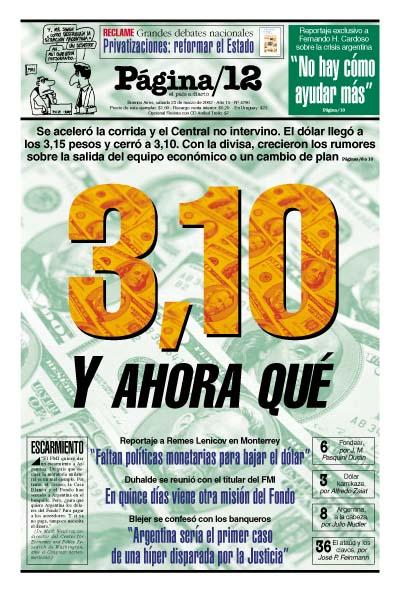 Tapa de la fecha 23-03-2002