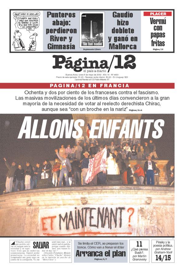 Tapa de la fecha 06-05-2002