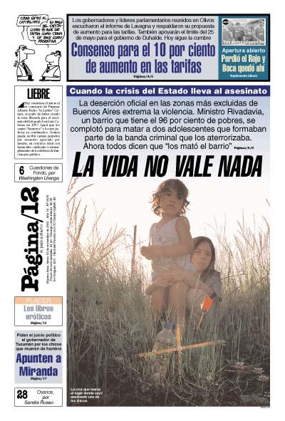 Tapa de la fecha 18-11-2002
