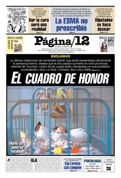 Tapa de la fecha 28-11-2002