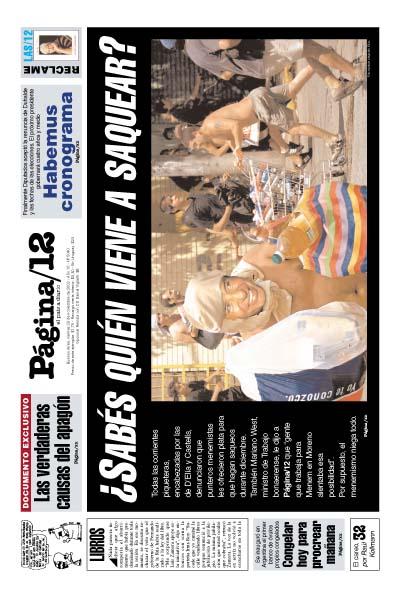 Tapa de la fecha 29-11-2002