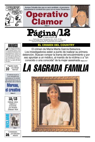Tapa de la fecha 23-12-2002