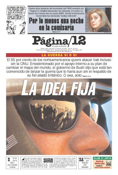 Tapa de la fecha 12-03-2003