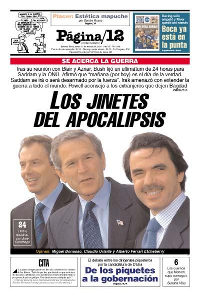 Tapa de la fecha 17-03-2003