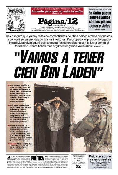 Tapa de la fecha 01-04-2003