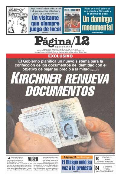 Tapa de la fecha 23-06-2003