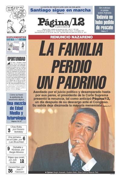 Tapa de la fecha 28-06-2003