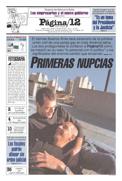 Tapa de la fecha 12-07-2003