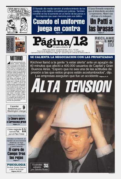 Tapa de la fecha 07-08-2003