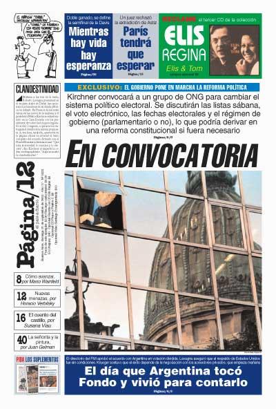 Tapa de la fecha 21-09-2003