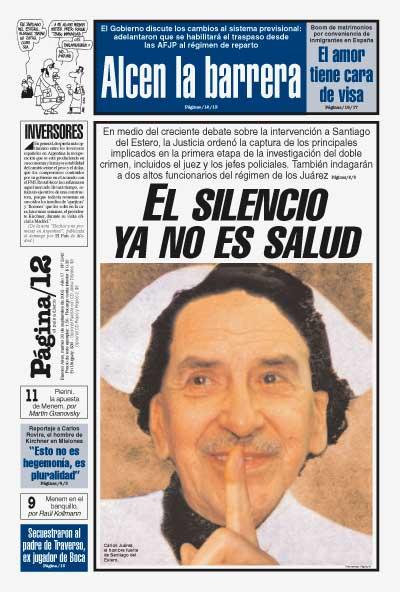 Tapa de la fecha 30-09-2003