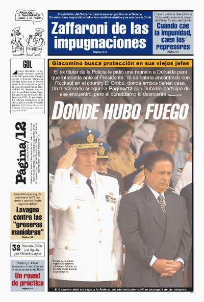 Tapa de la fecha 07-10-2003