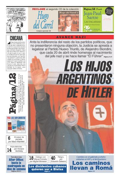 Tapa de la fecha 12-10-2003