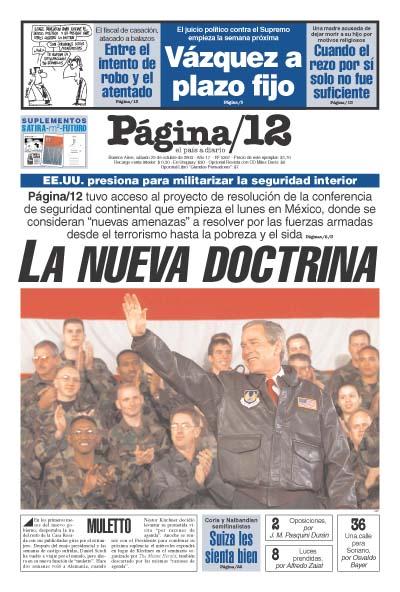 Tapa de la fecha 25-10-2003