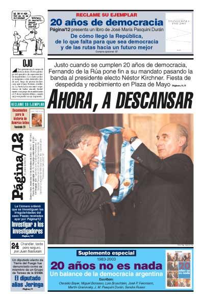 Tapa de la fecha 10-12-2003