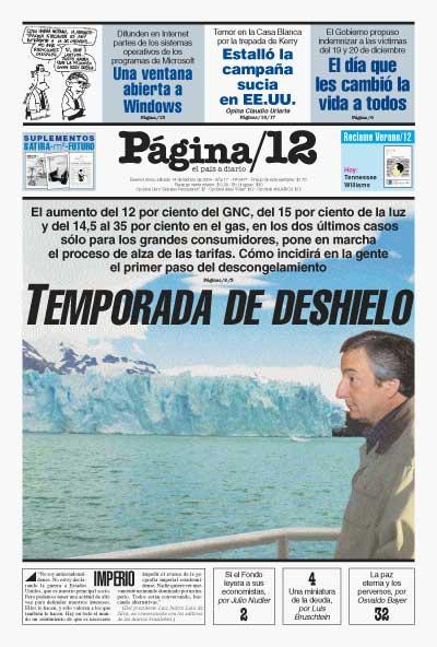 Tapa de la fecha 14-02-2004