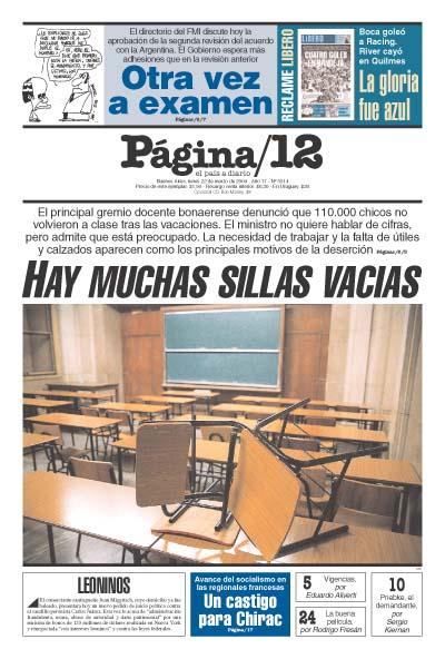 Tapa de la fecha 22-03-2004