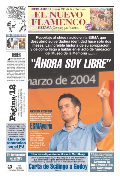 Tapa de la fecha 28-03-2004