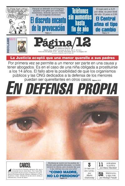 Tapa de la fecha 21-05-2004