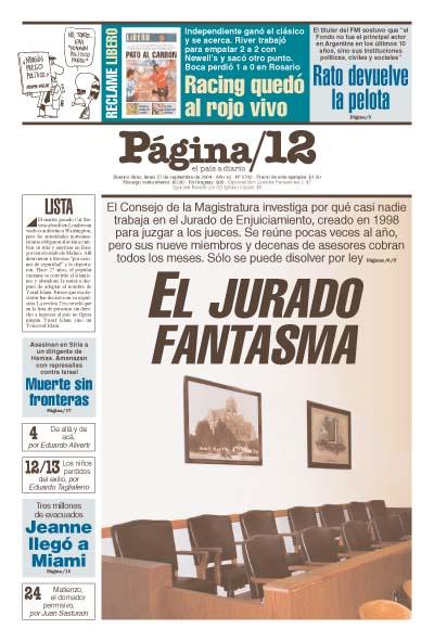 Tapa de la fecha 27-09-2004