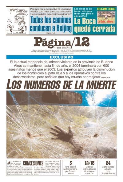 Tapa de la fecha 08-11-2004