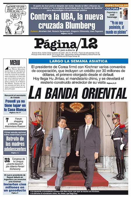 Tapa de la fecha 16-11-2004