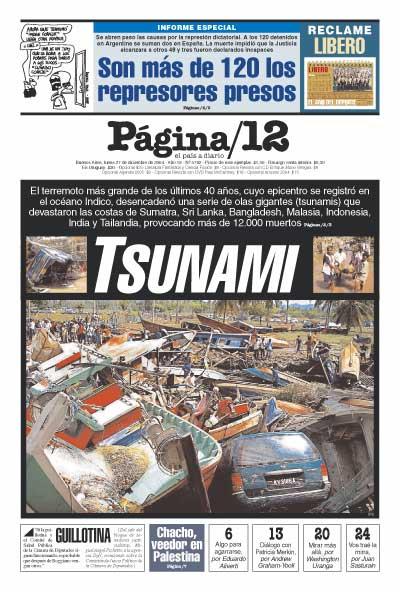 Tapa de la fecha 27-12-2004