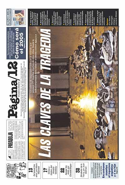 Tapa de la fecha 02-01-2005