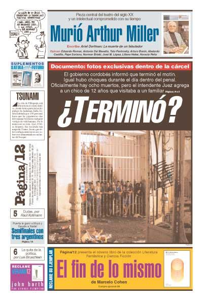 Tapa de la fecha 12-02-2005