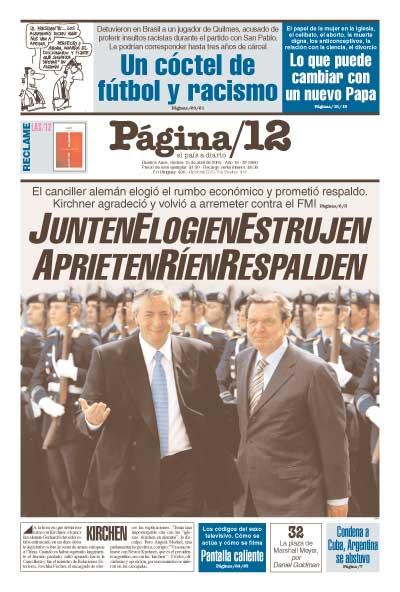 Tapa de la fecha 15-04-2005