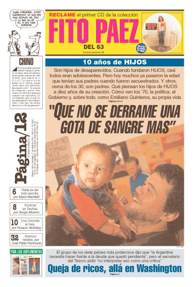 Tapa de la fecha 17-04-2005