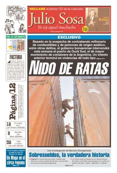 Tapa de la fecha 08-05-2005
