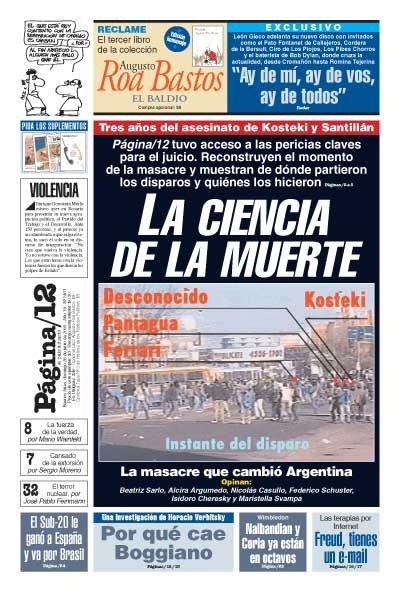 Tapa de la fecha 26-06-2005