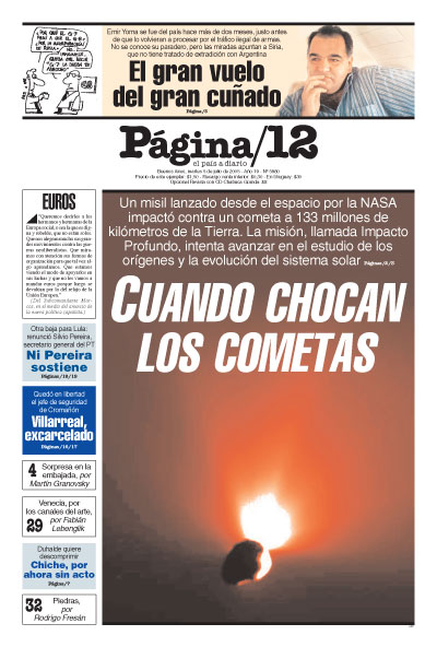 Tapa de la fecha 05-07-2005