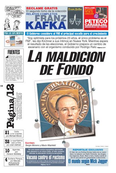 Tapa de la fecha 18-09-2005