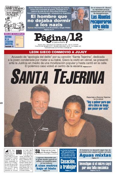 Tapa de la fecha 21-09-2005