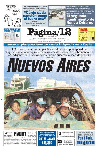 Tapa de la fecha 24-09-2005