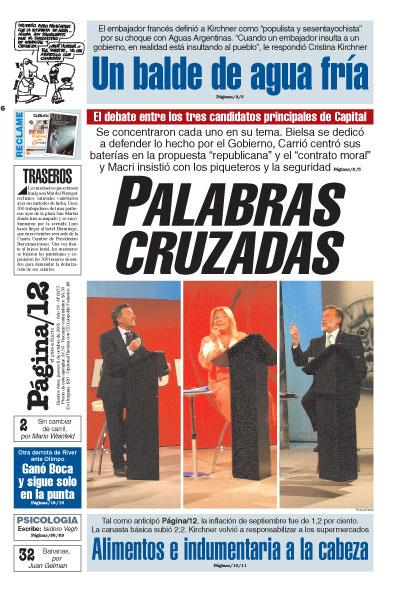 Tapa de la fecha 06-10-2005