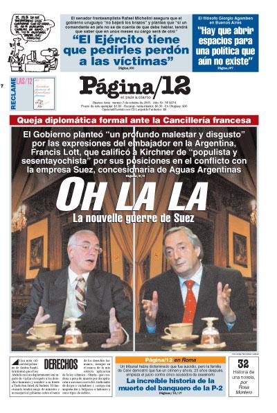Tapa de la fecha 07-10-2005