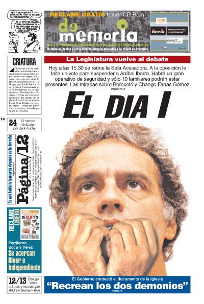 Tapa de la fecha 14-11-2005