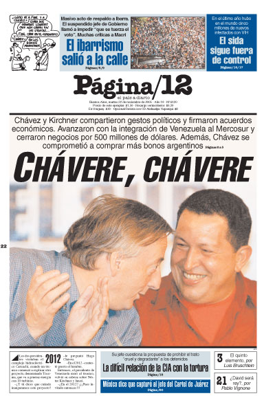 Tapa de la fecha 22-11-2005