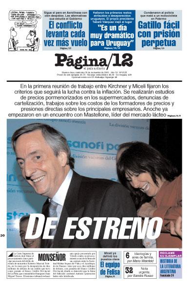 Tapa de la fecha 30-11-2005