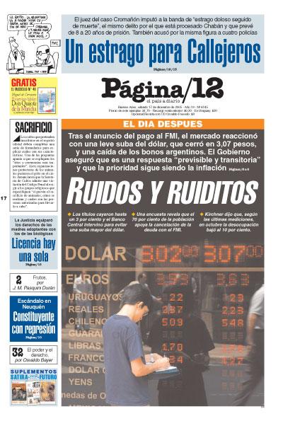 Tapa de la fecha 17-12-2005