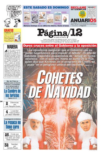 Tapa de la fecha 24-12-2005