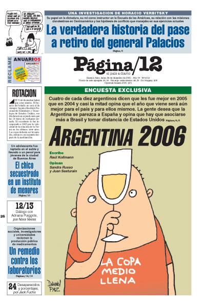 Tapa de la fecha 26-12-2005