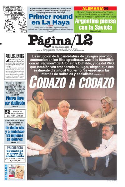 Tapa de la fecha 08-06-2006