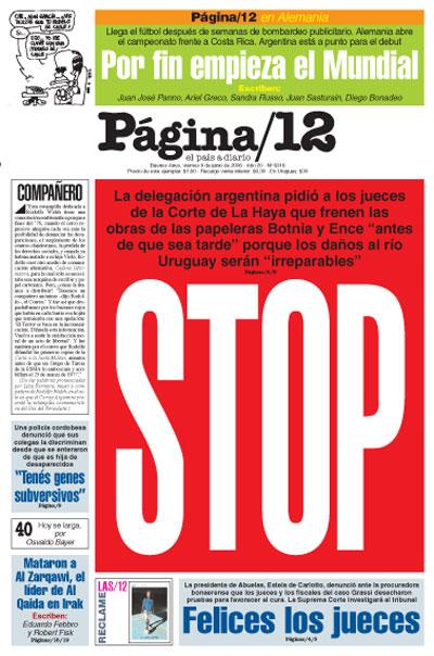Tapa de la fecha 09-06-2006